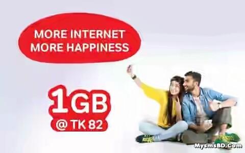 Airtel 3G 1GB @ 82 tk
