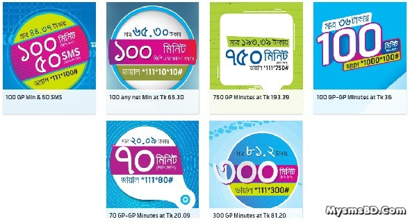 Grameenphone Voice Bundle Minute Packs