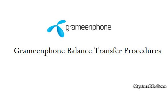 Grameenphone Balance Transfer Process