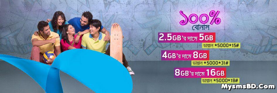 Grameenphone 100% Data Bonus 2GB | 4GB | 8GB Pack | Bonus Validity 28Days!