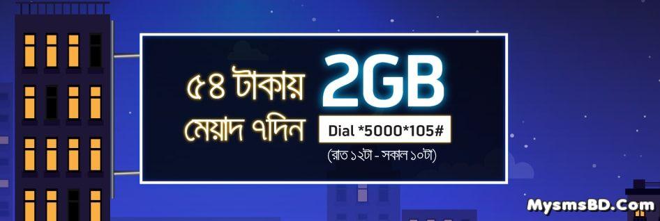 Gp 2GB Night Pack at Tk 54
