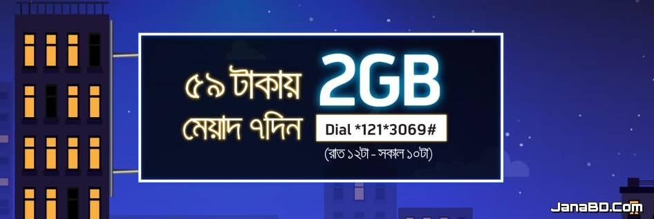 Gp 2GB Night Pack at Tk 59