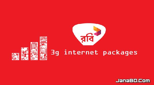 Robi 3G or 3.5G internet packages (update April 2017)